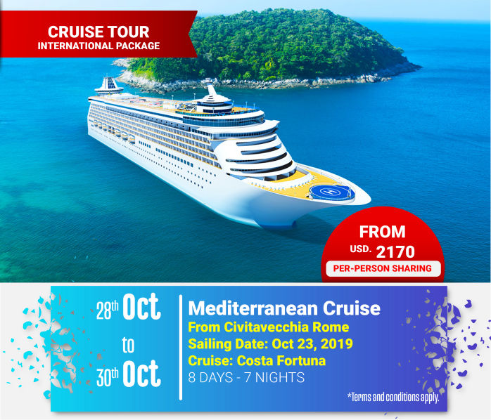 Mediterranean Cruise  From Civitavecchia Rome Global Destinations Tours & Travel Kenya