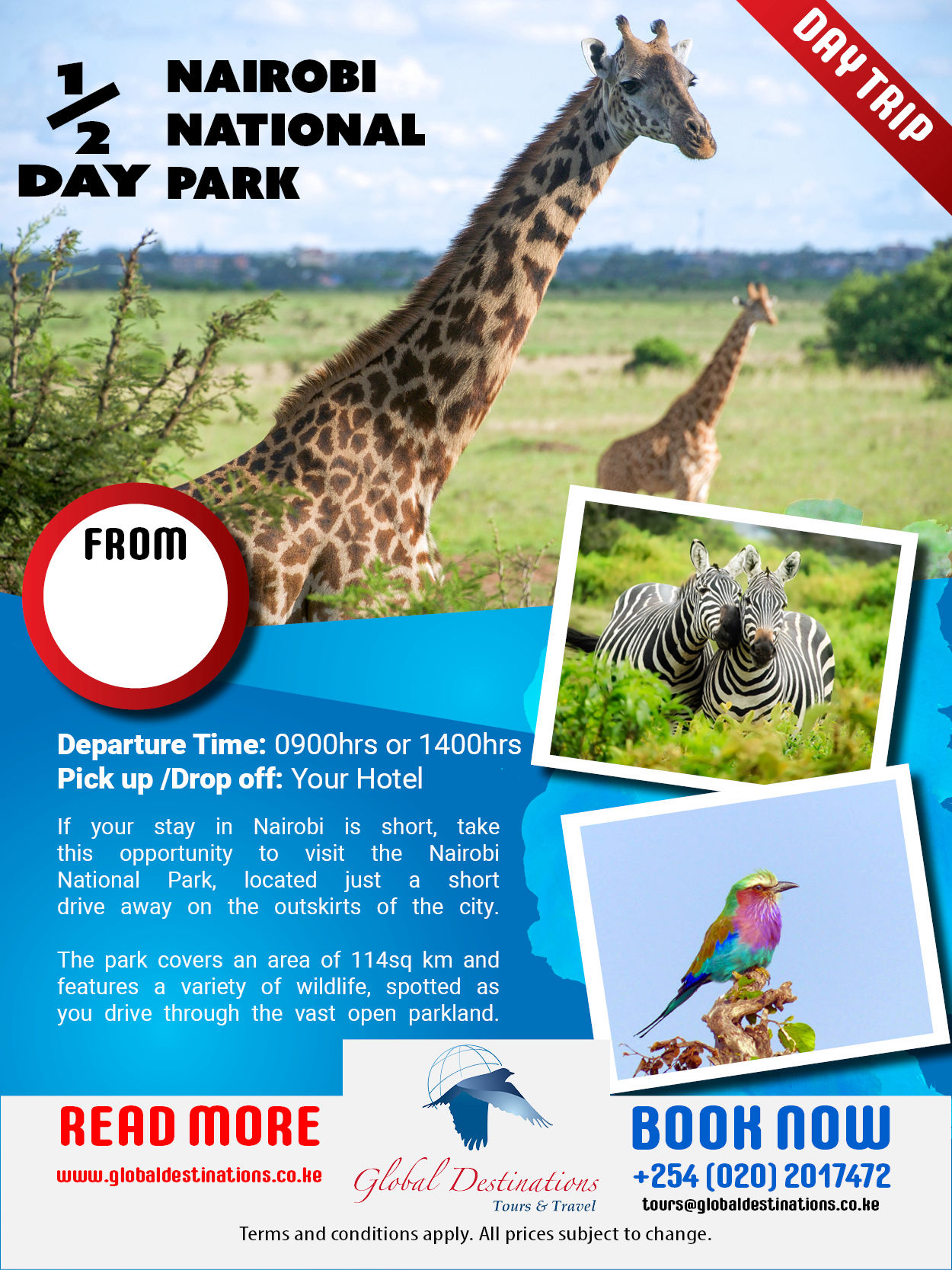 Half Day Nairobi National Park Package