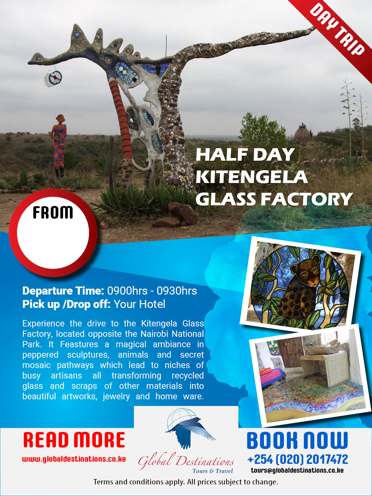 Half Day Kitengela Glass Factory Kajiado
