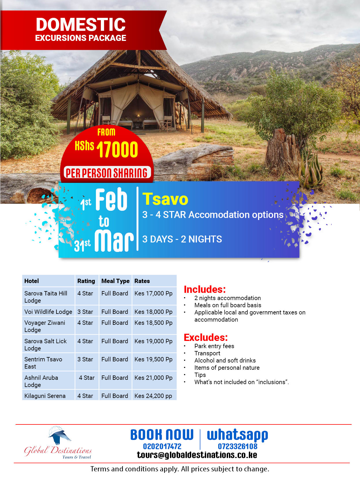Tsavo Excursion 3 Days - 2 Nights